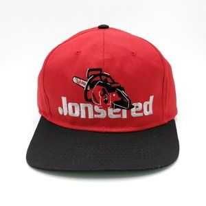 Vintage Jonsered Chainsaw Snapback Trucker Hat Cap